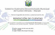 INVITACIÓN REDICIÓN DE CUENTAS AÑO FISCAL 2020